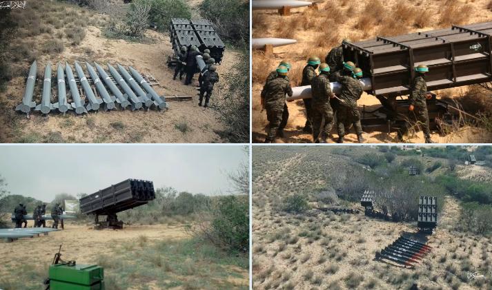 Hamas được cho là đang sử dụng nhiều rocket A-120 để tấn công Israel - Ảnh chụp màn hình Twitter
