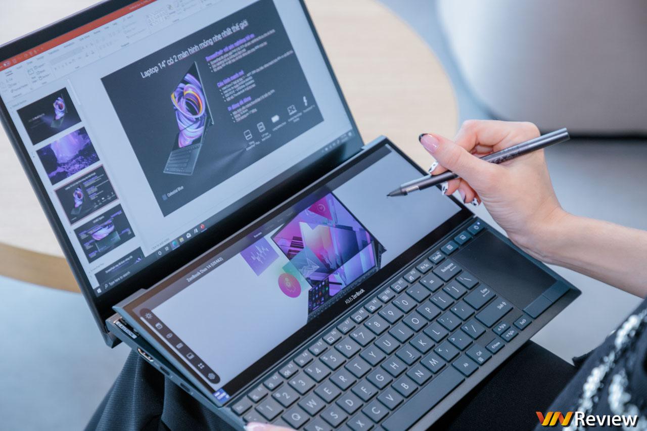Trên tay Asus ZenBook Duo 14 UX482: cải thiện trải nghiệm laptop 2 màn hình bằng bản lề nghiêng tự động