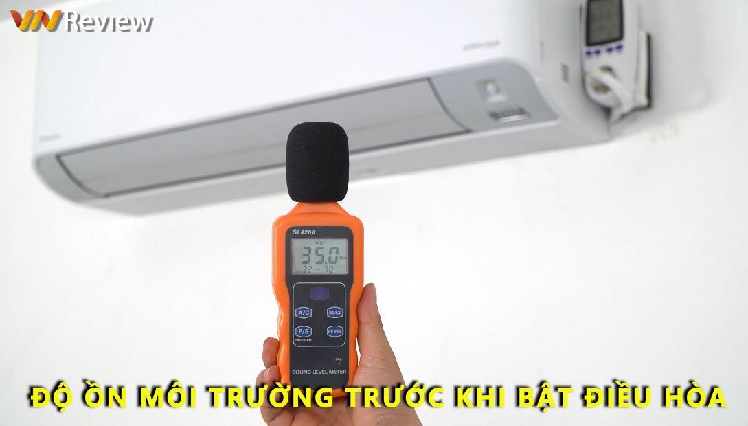độ ồn của máy lạnh trước khi bật