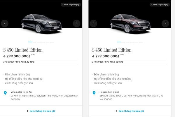 Mercedes-Benz tăng cường bán xe qua showroom online ở Việt Nam