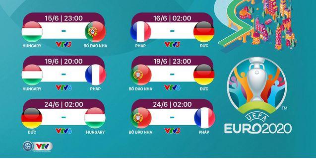 Xem euro 2021 trên kênh nào?