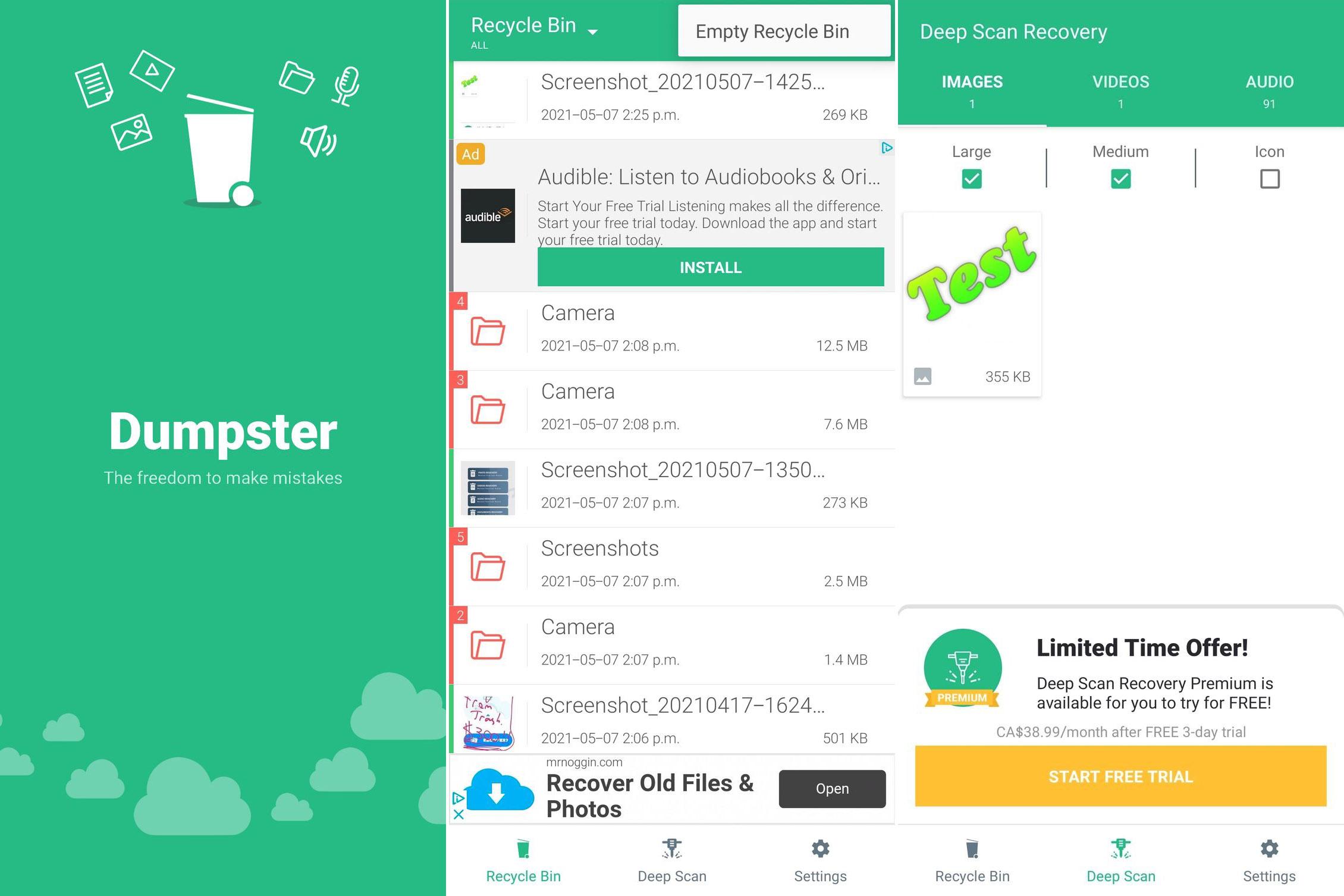 4 ứng dụng Android giúp bạn khôi phục lại những file đã xóa