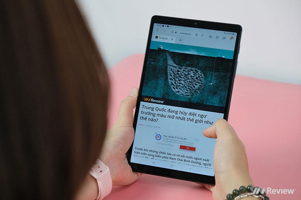 Đánh giá nhanh Samsung Galaxy Tab A7 Lite: tablet 4G giá mềm để học online