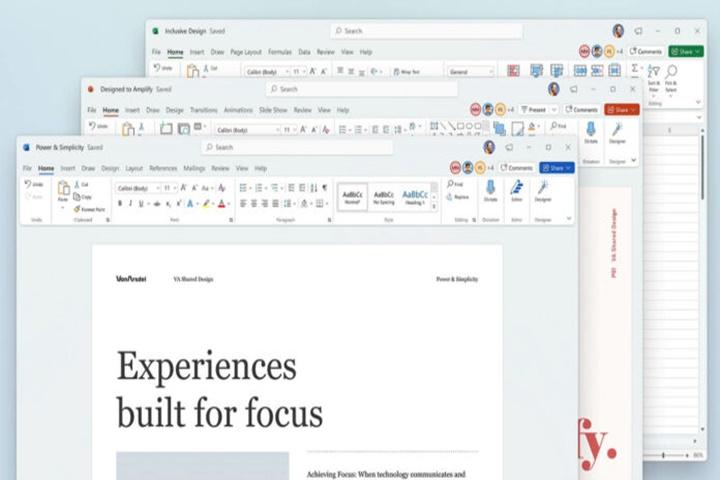 Microsoft 'đại tu' giao diện bộ Office trên Windows 10 và Windows 11