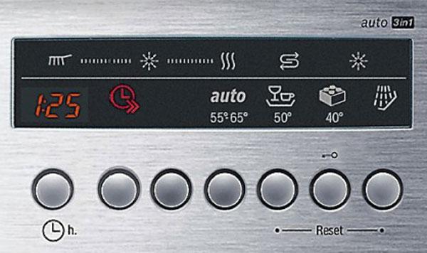 Bảng điều khiển kỹ thuật số của máy rửa bát Bosch