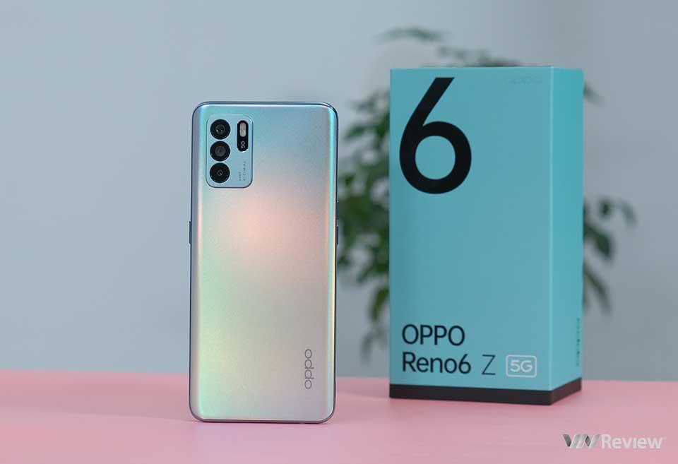 Mở hộp Oppo Reno6 Z: phổ cập sớm 5G