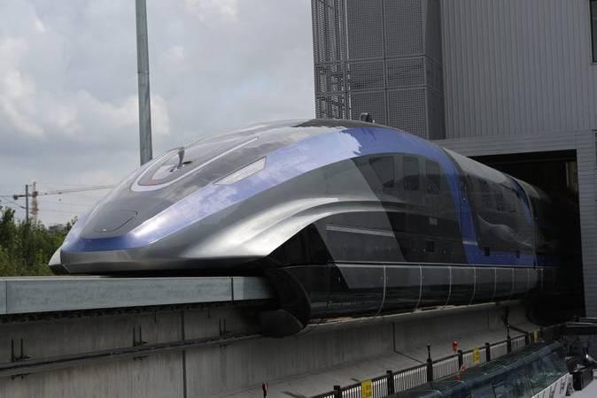 Ngắm nhìn đoàn tàu chạy 600km/h, nhanh nhất thế giới vừa ra mắt của Trung Quốc