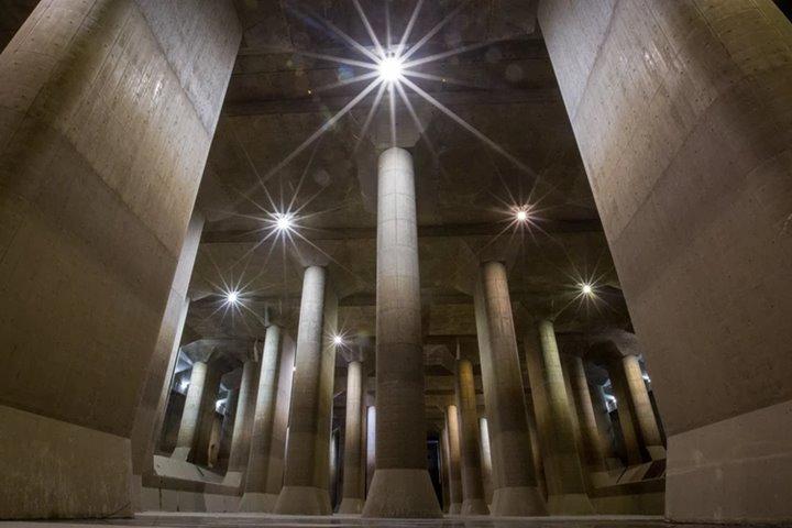 """""""Ngôi đền ngầm"""" vĩ đại giúp bảo vệ 38 triệu cư dân Tokyo khỏi lũ lụt"""
