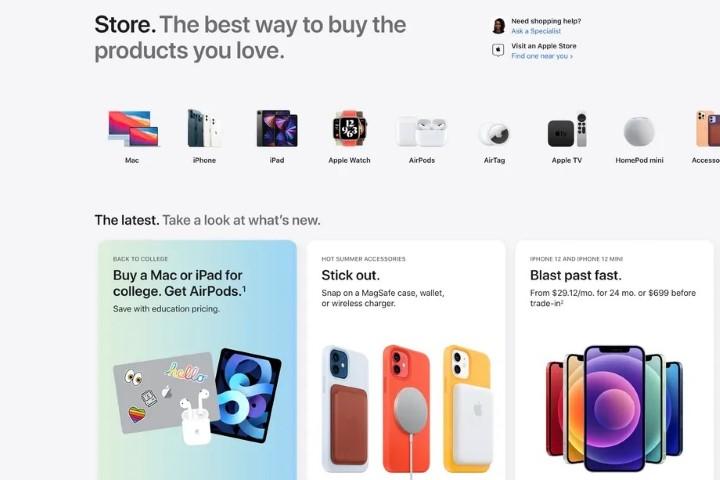 Apple tái thiết kế cừa hàng trực tuyến Apple Store