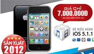 iPhone 3GS phiên bản 2012 bắt đầu bán ở VN, giá 7 triệu đồng