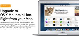 Nâng cấp Moutain Lion miễn phí cho Mac mua sau 10/6