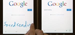 Google Seach trên di động: viết từ khoá tìm kiếm bằng tay lên màn hình