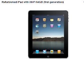 Giá iPad đời đầu tân trang giảm ít nhất 200 USD