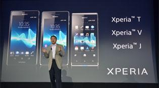 Sony giới thiệu ba chiếc Xperia mới: Xperia T, V và J