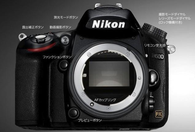 Giá Nikon D600 bằng nửa Nikon D800 và Canon 5D Mark III