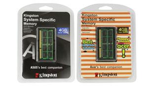 Kingston thiết kế RAM riêng cho laptop ASUS và Acer