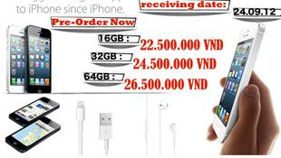 Cập nhật: giá iPhone 5 ngày 22/9