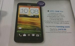 Lộ thông số HTC One X+ qua tờ rơi của O2