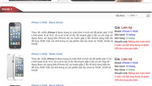 2/10: iPhone 5 biến mất khỏi một số website, giá giảm nhẹ