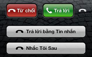 Cách từ chối cuộc gọi lịch sự trên iOS 6