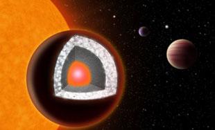Hành tinh kim cương lớn gấp đôi Trái Đất