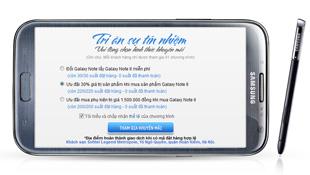 Samsung tri ân diễn ra trong 5 phút