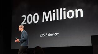 Apple: 200 triệu thiết bị iOS 6, 700.000 ứng dụng, 35 tỷ lượt tải