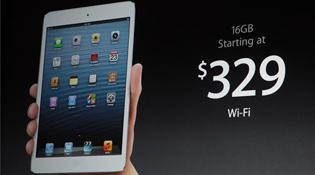 Giá iPad Mini từ 329 USD, bán ngày 2/11