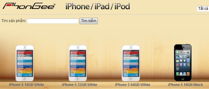 iPhone 5 xách tay khan hàng, giá tăng