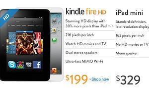 """Amazon """"tấn công"""" iPad Mini với quảng cáo công kích trên trang chủ"""