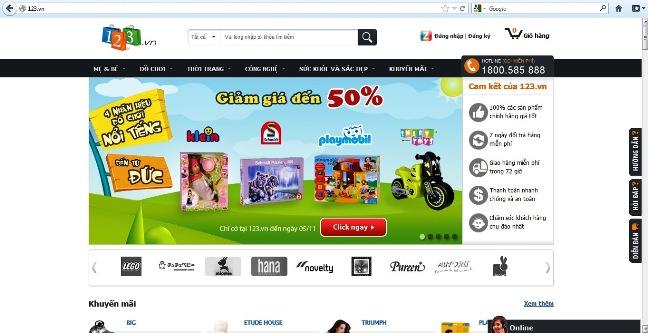 VNG ra mắt website thương mại điện tử 123.vn