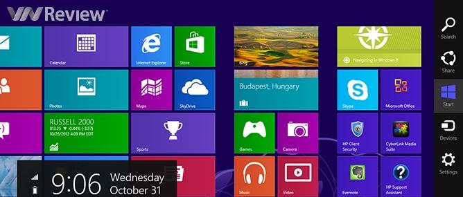 Nút Start trong Windows 8 ở đâu?