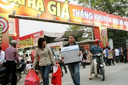 Tháng khuyến mại Hà Nội 2012 khai mạc tối nay