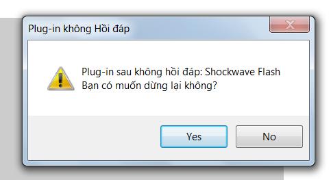 """Sửa lỗi """"plug in không hồi đáp"""" trong Firefox và Chrome như thế nào?"""
