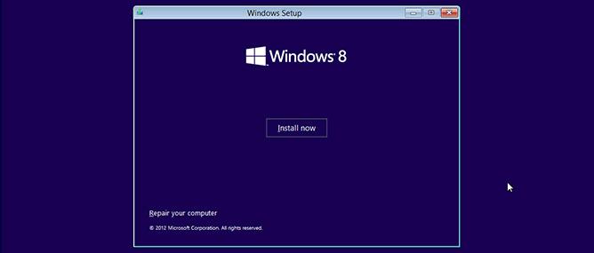 Hướng dẫn cài đặt Windows 8