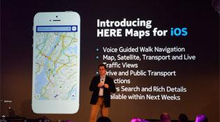 Nokia Here lọt vào top 4 ứng dụng miễn phí trên iTunes
