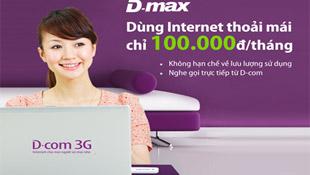 Viettel ra gói cước DMAX, dùng 3G không giới hạn với 100.000đ/tháng