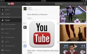 Google cập nhật ứng dụng YouTube cho iPad và iPhone 5