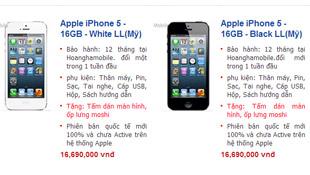 Cập nhật giá iPhone 5 xách tay trước khi hàng chính hãng lên kệ