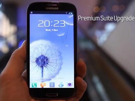 Samsung tiết lộ thêm về bản nâng cấp Galaxy S3 Premium Suite