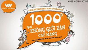 Vietnamobile cho phép gọi ngoại mạng 1000 đồng/phút