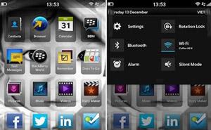 Rò rỉ giao diện người dùng của BlackBerry 10