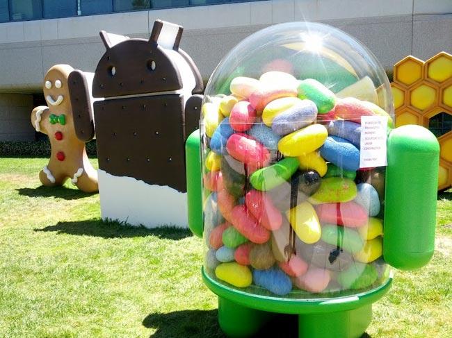 10% các thiết bị Android đang chạy Jelly Bean