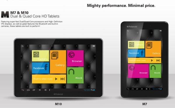 Polaroid giới thiệu tablet cấu hình cao, giá 129-229 USD