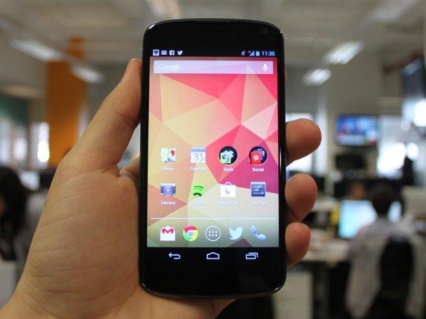 Nexus 4 có bản cập nhật Android Jelly Bean 4.2.2 ở Brazil và Malaysia