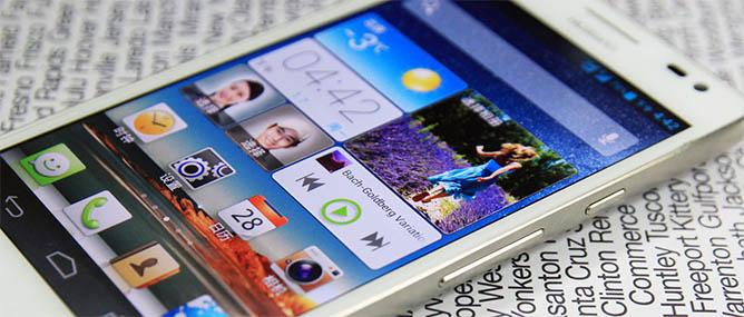Hình ảnh mới nhất của Huawei Ascend D2 phiên bản màu trắng