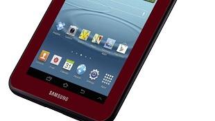Samsung ra tablet Galaxy Tab 2 7.0 màu đỏ