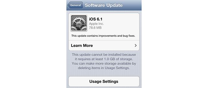 Apple phát hành bản cập nhật iOS 6.1