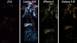 BlackBerry Z10 chụp ảnh rất tệ ở điều kiện thiếu sáng