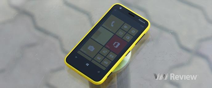 Trên tay điện thoại Nokia Lumia 620